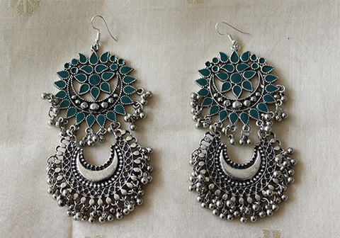 Tribal Afghan Earrings Design 46