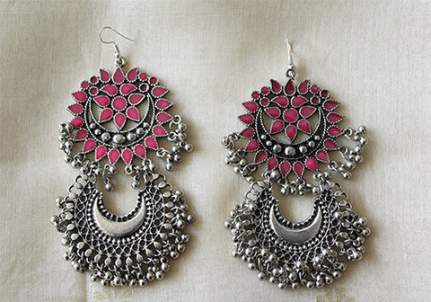 Tribal Afghan Earrings Design 47