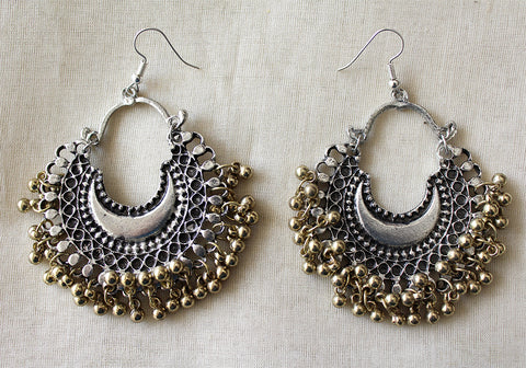 Tribal Afghan Chandbali Earrings Design 92