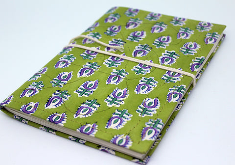 Notebook with Block Printed Cover Design 1