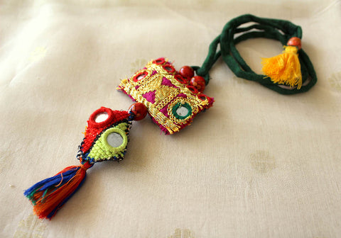Upcycled Vintage Kutch Work Necklace Design 36