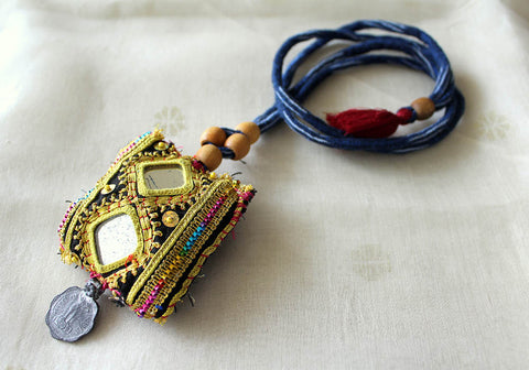 Upcycled Vintage Kutch Work Necklace Design 42