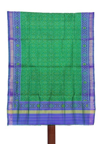 Green and Blue Ikat Patola Dupatta