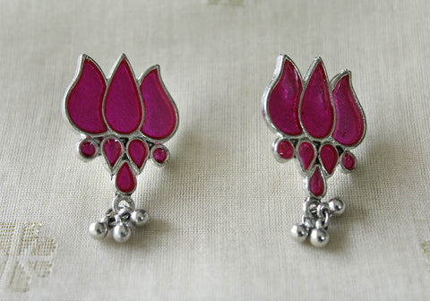 Tribal Afghan Lotus Earrings Design 117