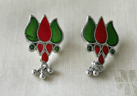 Tribal Afghan Lotus Earrings Design 118