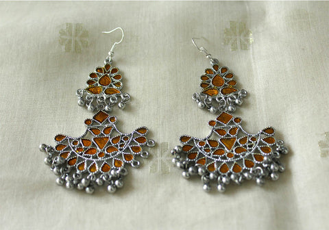 Tribal Afghan Earrings Design 103