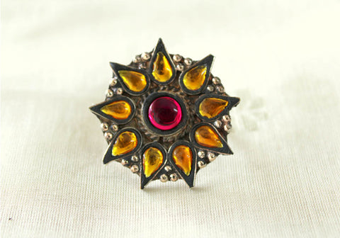 Tribal Afghan Ring Design 24