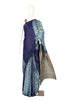 Shibori Gajji Silk Saree with Ajrakh Pallu and Blouse Design 3