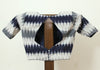 Dark Blue and Grey Ikat Blouse