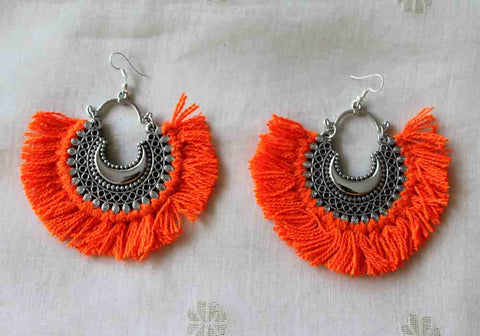 Tribal Afghan Earrings Design 128