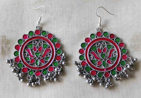 Tribal Afghan Earrings Design 130