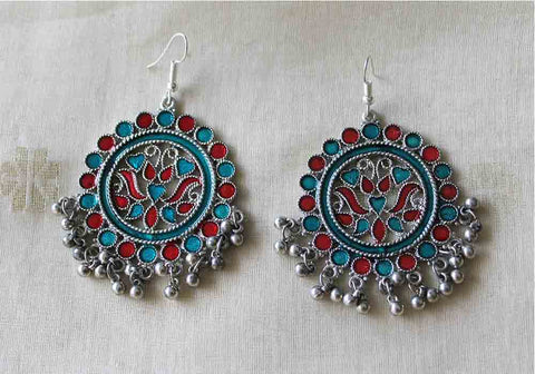 Tribal Afghan Earrings Design 132