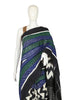 Black Zig Zag Ikat Cotton Saree