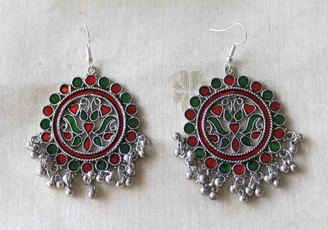 Tribal Afghan Earrings Design 135