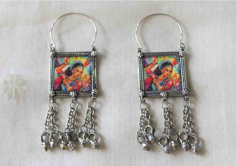 Tribal Afghan Earrings Design 143