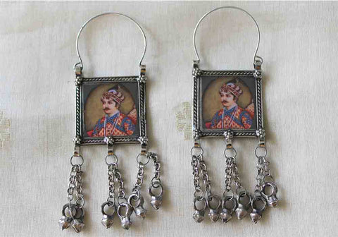 Tribal Afghan Earrings Design 145