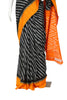 Black and Yellow Ikat Cotton Saree