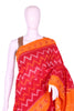 Red and Yellow Ikat Cotton Saree