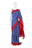 Blue and Red Ikat Cotton Saree design 2