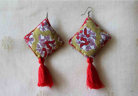 Upcycled Cloth Earrings Design 10