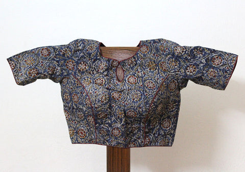 Kalamkari Readymade Blouse Design 3