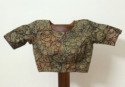 Kalamkari Readymade Blouse Design 5