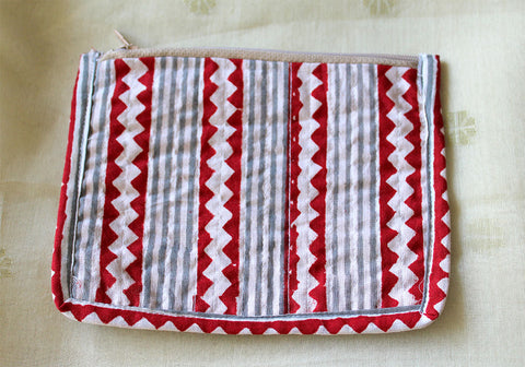 Upcycled Multi function Travel Cosmetic bag  design 14(small)