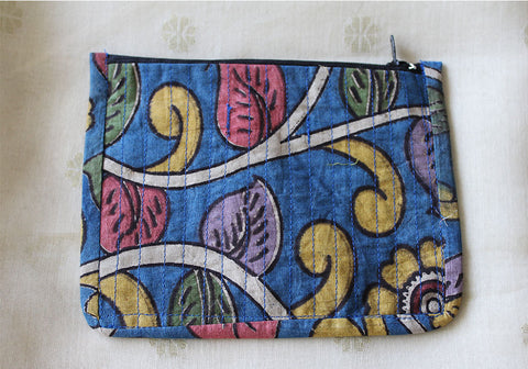 Upcycled Multi function Travel Cosmetic bag  design 19(small)