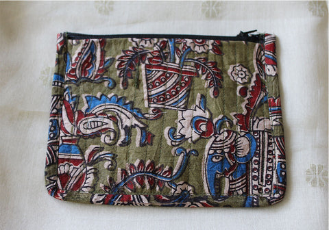Upcycled Multi function Travel Cosmetic bag  design 21(small)