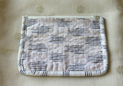 Upcycled Multi function Travel Cosmetic bag  design 25(small)