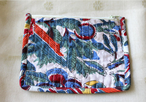 Upcycled Multi function Travel Cosmetic bag  design 28(small)