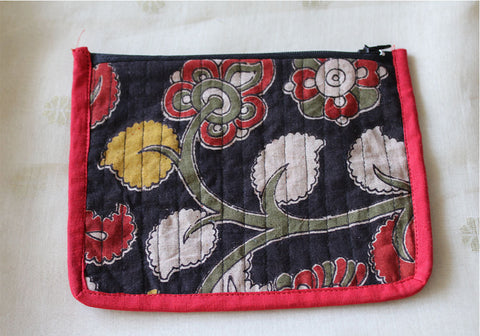 Upcycled Multi function Travel Cosmetic bag  design 29(small)