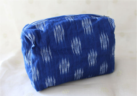 Upcycled Multi function Travel Cosmetic bag design 33 (Cylindrical Medium)