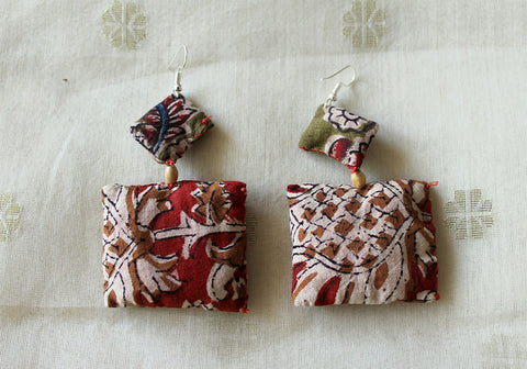 Upcycled Cloth Earrings Design 15