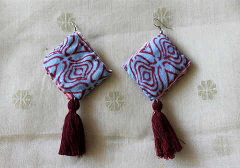 Upcycled Cloth Earrings Design 21