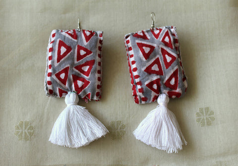 Upcycled Cloth Earrings Design 22