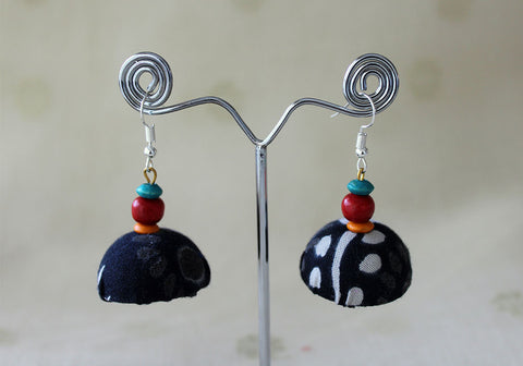 Upcycled Lightweight Cloth Jhumkas Design 17