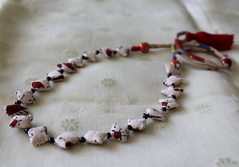 Upcycled Fabric Necklace Design 7