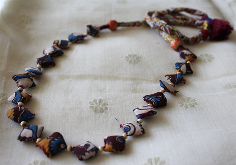 Upcycled Fabric Necklace Design 22