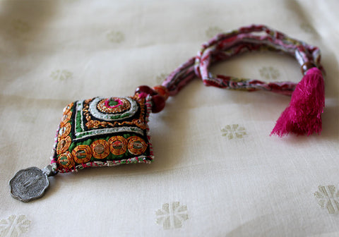 Upcycled Vintage Kutch Work Necklace Design 94