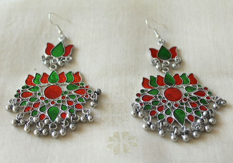 Tribal Afghan Earrings Design 160