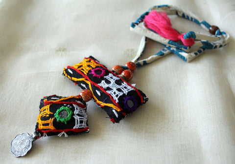 Upcycled Vintage Kutch Work Necklace Design 101