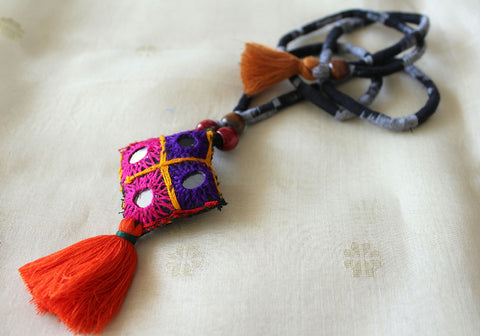 Upcycled Vintage Kutch Work Necklace Design 104