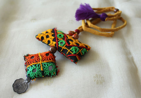 Upcycled Vintage Kutch Work Necklace Design 105