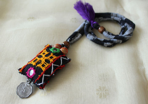 Upcycled Vintage Kutch Work Necklace Design 107