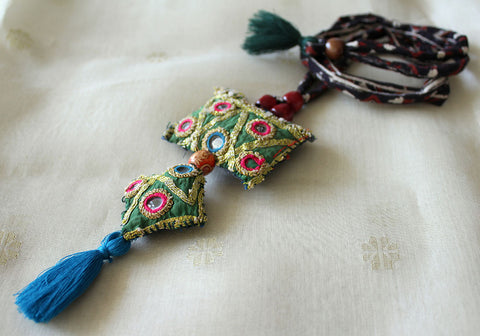 Upcycled Vintage Kutch Work Necklace Design 108