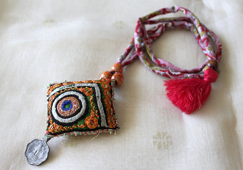 Upcycled Vintage Kutch Work Necklace Design 114