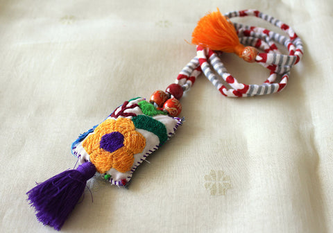 Upcycled Vintage Kutch Work Necklace Design 116
