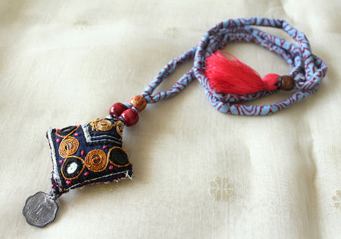 Upcycled Vintage Kutch Work Necklace Design 117