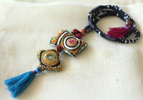 Upcycled Vintage Kutch Work Necklace Design 125